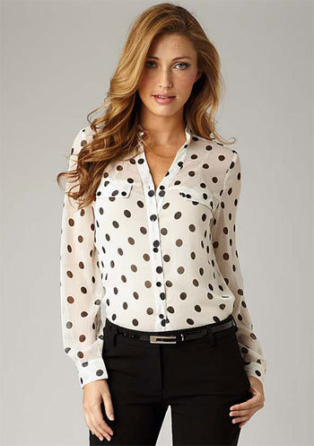 Rosalie Polka Dot Top