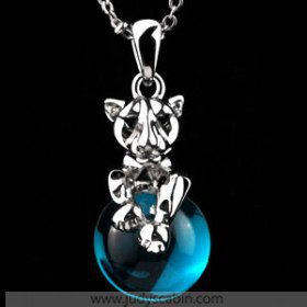 IDee Blue Topaz Pendant Necklace - Necklaces