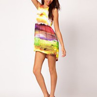 Motel New World Leyla Hi Lo Dress at asos.com