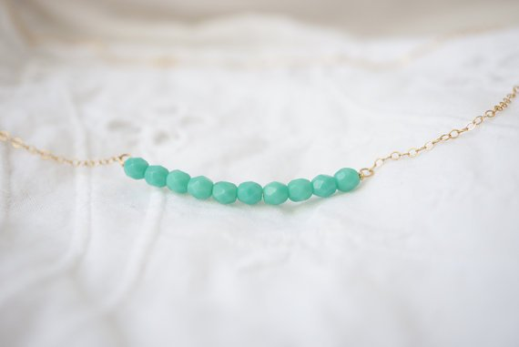 Creme de Menthe - Bar Necklace