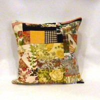 Multi Boho Patchwork Pillow | Vintage Renewal