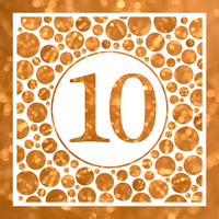 Ten In Gold - 10th Birthday Party Or Anniversary Invitation - Card Design - Printable File