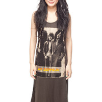Led Zeppelin Long Dress T Shirt Jimmy Page Women Black Tunic T-Shirt Tank Top Sleeveless Size S M L