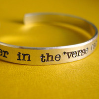 Firefly Bracelet: No power in the &#x27;verse can stop me -Hand Stamped Cuff Bracelet