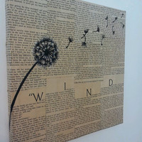 Dandelion &quot;Wind&quot; Painting