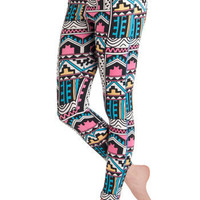 Rules of Abstraction Leggings in Geometric