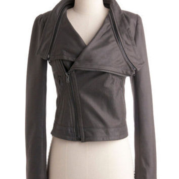 ModCloth Best Seller Short Length Long Sleeve Front Page Photo Jacket