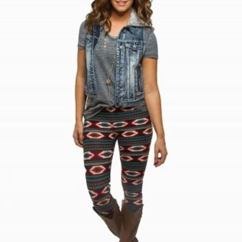 AZTEC PEACHED LEGGINGS