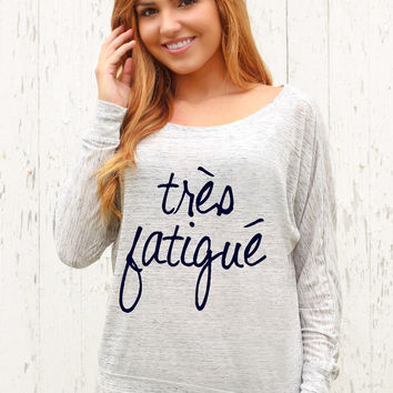 Très Fatigué - Off The Shoulder Long Sleeve