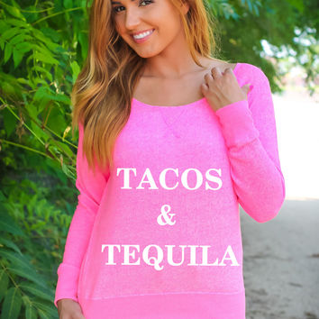 Tacos and Tequila - Sweater Fleece