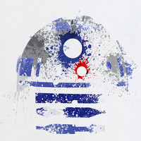 Star Wars paint splatter: R2D2 Art Print by Arian Noveir | Society6