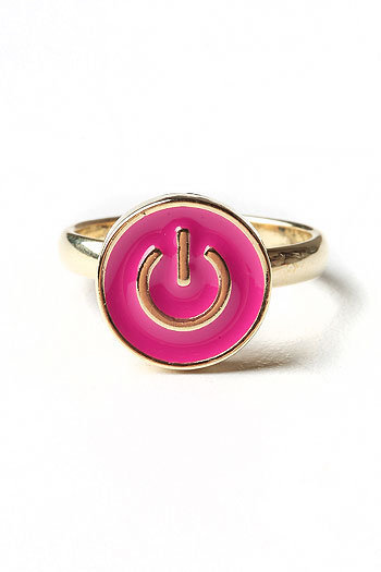 Power On Ring - Cute Rings at Pinkice.com