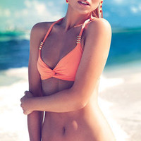 Caffe 2012: Solid Looks Two Piece Swimsuit Twist Bikini VB1218 | Swimwear Boutique