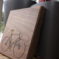 Wood Routing Cycle 7x7 Walnut by deav on Etsy