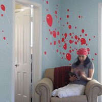 Blik Wall Decals: 99 Luftballons by Threadless