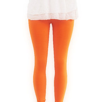 Orange  Knit Leggings Organic Eco Clothing  Womens Clothing Pants Tangerine Tango