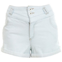 High Waisted Bleach Denim Shorts - Jeans & Denim  - Apparel  - Miss Selfridge US