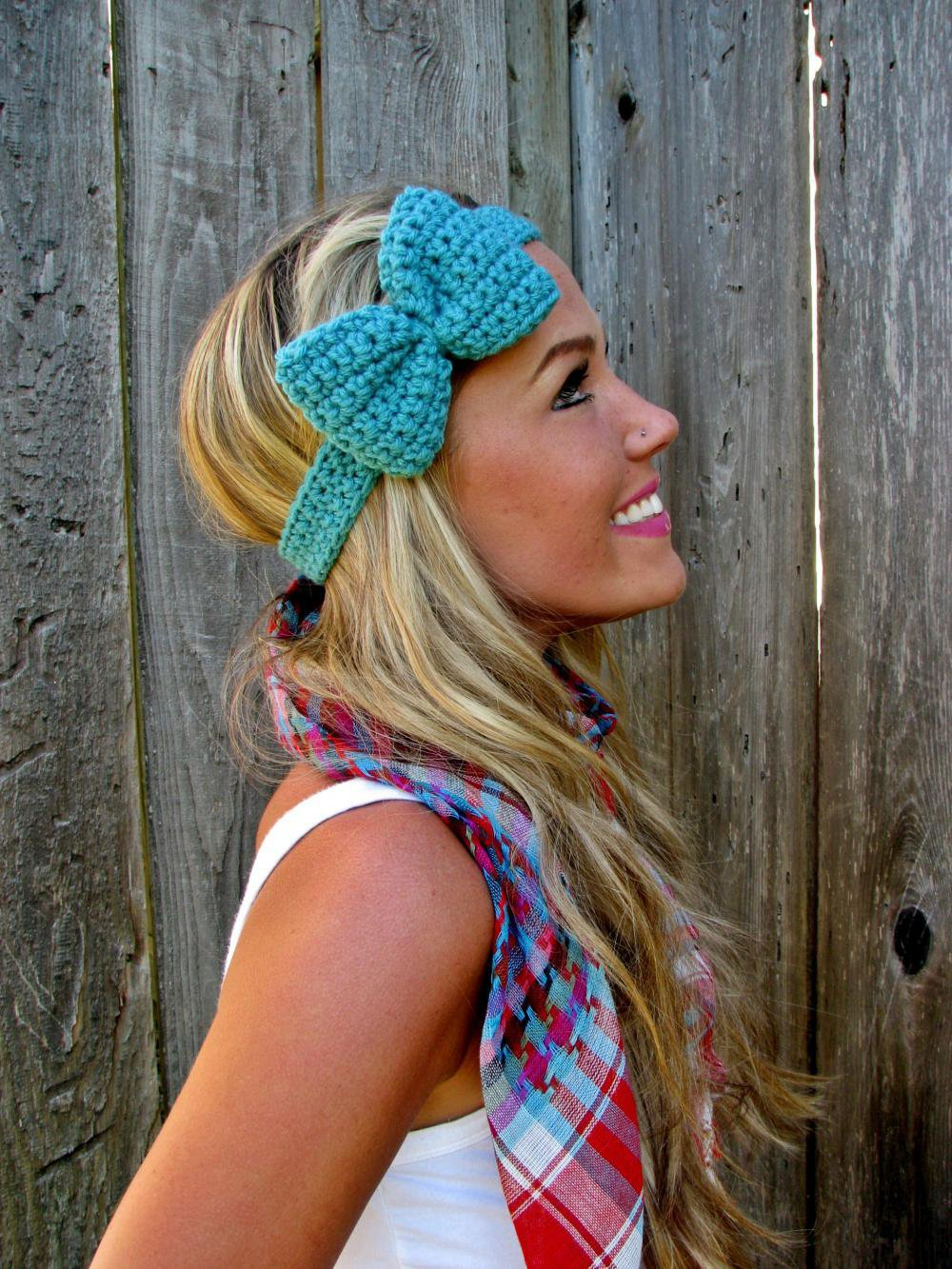 Tahitian Turquoise Bow Headband Wit.. on Luulla