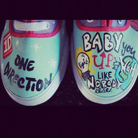 One Direction Custom Vans
