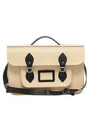 "Cambridge Satchel Company 15"" Exclusive to Asos Contrast Trim Batchel at asos.com"