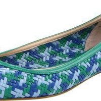 Boutique 9 Women`s Allix Flat,Blue Multi,7.5 M US
