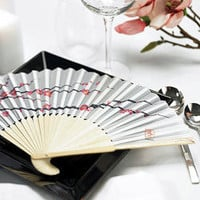 Cherry Blossom Silk Hand Fans, Asian Silk Hand Fans