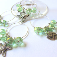 Wine Charms - Green Beach Wine Charms