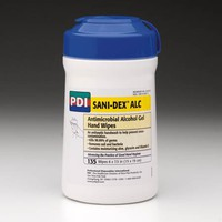 "Pdi Sani-dex Alc Antimicrobial Alcohol Gel Hand Wipes 6"" X 7 1/2"""