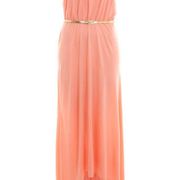 Coral Bandeau Dippy Hem Maxi - Dresses  - Apparel  - Miss Selfridge US