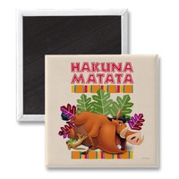 Hakuna Matata Fridge Magnets from Zazzle.com