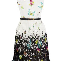 Pleated Butterfly Dress