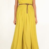 Silk Chiffon Strapless Gown | Shop | Tibi