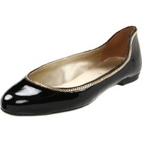 French Sole FS/NY Women`s Flatter ,Black Patent,7 M US