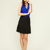 Catherine Malandrino Pleated Chiffon Skirt
