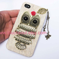 owl,alice rabbit,key,letter,Iphone Case iPhone 4 Case, iphone 4 cover, New Hard Fitted Case For iphone 4 &amp; iphone 4S, Apple iPhone 4 Case