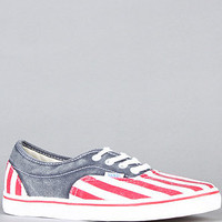 The LPE CA Sneaker in Red White and Blue