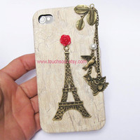 Eiffel Tower,bird,owl,letter,Iphone Case iPhone 4 Case, iphone 4 cover, New Hard Fitted Case For iphone 4 & iphone 4S, Apple iPhone 4 Case