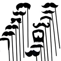 Mustache On A Stick Wedding Photo Booth Props Set Of 13 Mustache Photo Prop