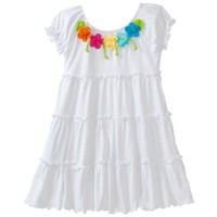 Love U Lots Girls 2-6X Tiered Cover-Up with Flowers