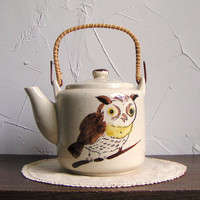 Vintage Japanese Owl Tea Pot