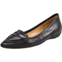 Nine West Women`s Tailynn Loafer,Black Leather,6.5 M US