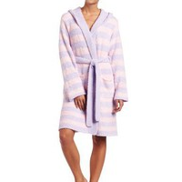 Casual Moments Womens Marshmallow Hooded Wrap Robe