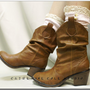 The Miss Nicki cowboy boot socks / - cluny lace w 2 buttons - a great look for your favorite cowboy  boots -by Catherine Cole Studio