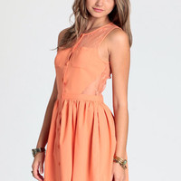 Tangerine Surprise Lace Dress - $44.00 : ThreadSence.com, Free-spirited fashion for the indie-inspired lifestyle