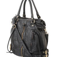 Distressed Shoulder Bag