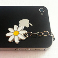 Hand-Assembled Custom Earphone Jack Plug Charms- Daisy