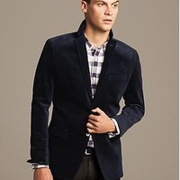 Tailored-Fit Corduroy Blazer