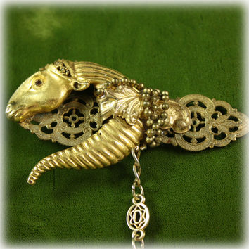 Stylized Vintage Horse Pin Brooch