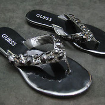 Guess Thong Sandal For Woman / Black In Color/ Size 5M  US 6.5