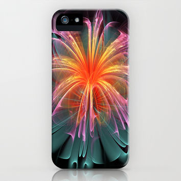Fiber Optic Flower iPhone & iPod Case by 319media
